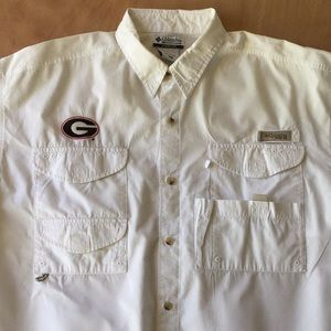 Columbia UGA University of Georgia Fishing Shirt